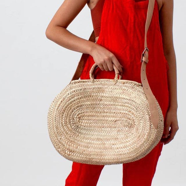 Moroccan Crossbody Basket, Oval