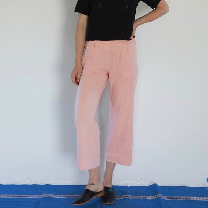 Me & Arrow: Pleated Pants in Cherry Blossom
