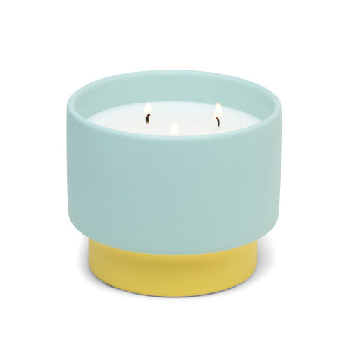 Color Block Candles in Minty Verde