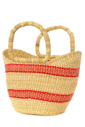 Ghanaian Mini Striped Shopping Basket