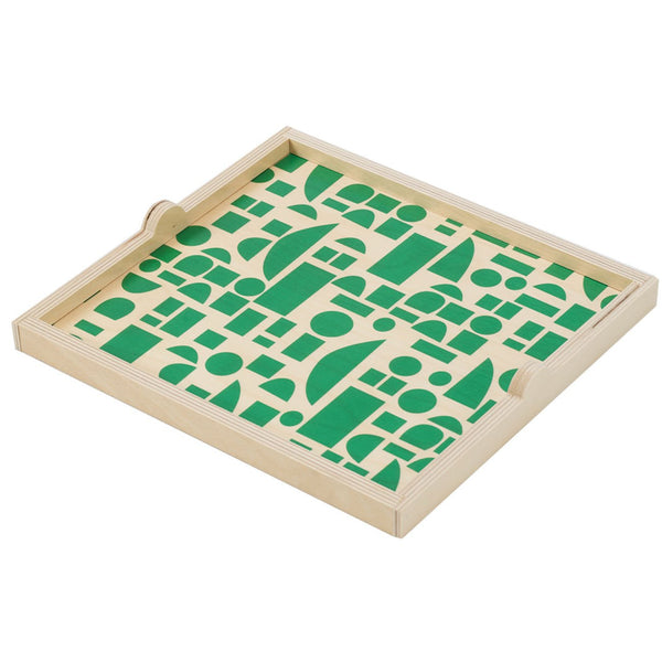 Wolfum: Square Tray in Green Blocks