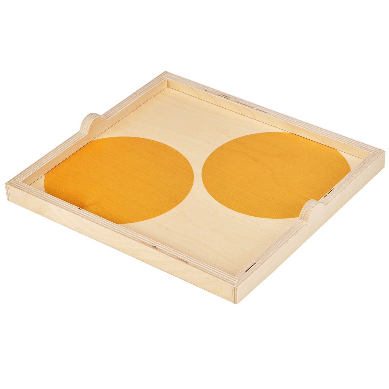 Wolfum: Square Tray in Yellow Dot