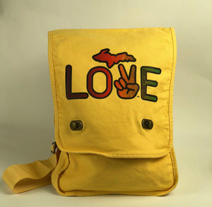 Peace Love Michigan Crossbody Satchel