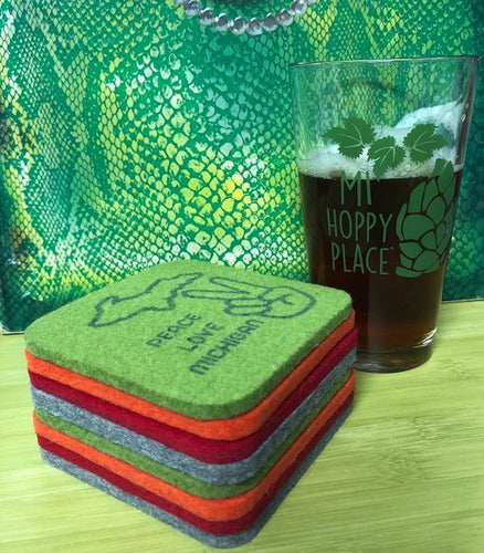 Chunky Felt Coasters - Four Pack