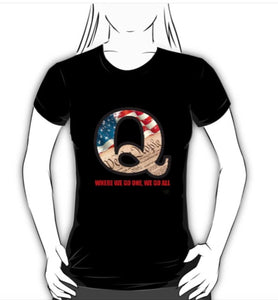 "Ladies ""We the People"" Q T-shirt"