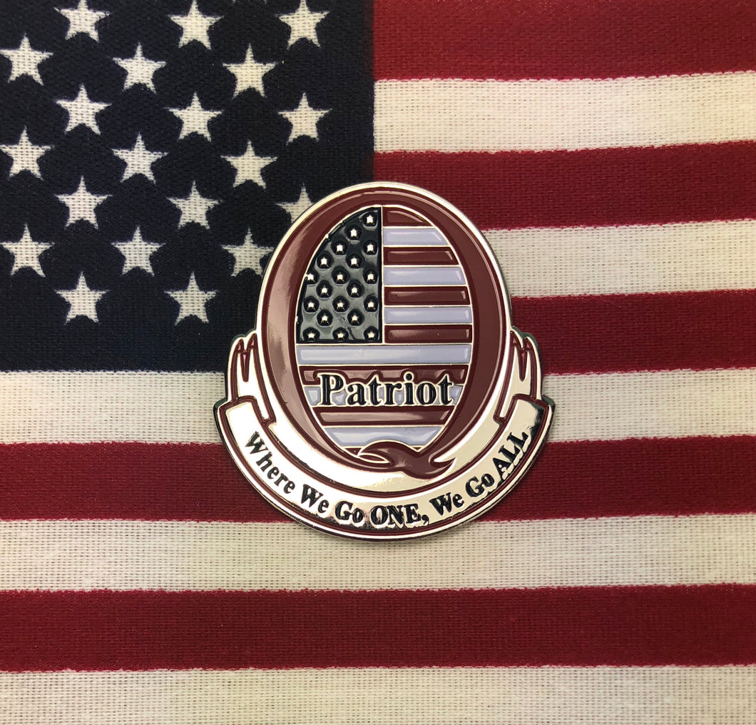 Q PATRIOT Large Enamel Pin