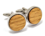 Reclaimed Whiskey Barrel Cufflinks Gifts and Accessories Mandala Sol - Mandala Sol