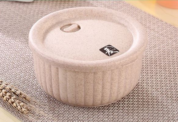 Natural Rice Husk Storage Container - Mandala Sol