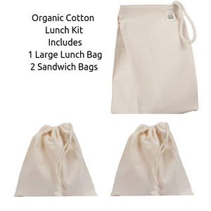 Organic Cotton Lunch Bag Set ● ECOBAGS™ - Mandala Sol