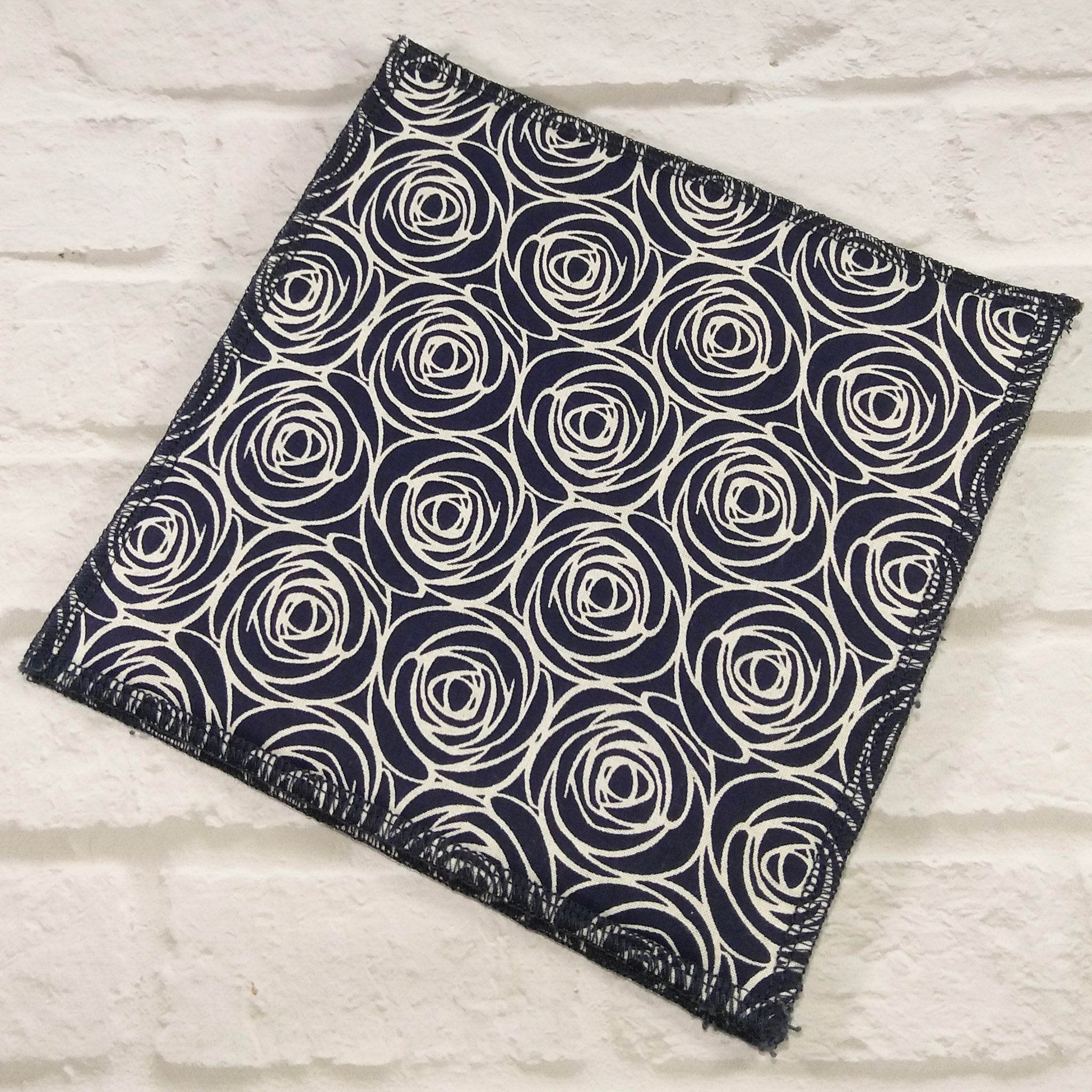 Dishcloths by Nature's Reusables ● Navy Rose Cleaning and Laundry Nature's Reusables - Mandala Sol