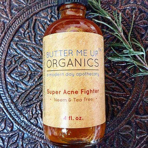 Super Acne Fighter ● Neem & Tea Tree ●  4 oz ● All Natural Personal Care Butter Me Up Organics - Mandala Sol