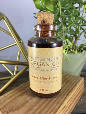 Aged After Shave ● Rum & Cinnamon ● 4 fl oz Personal Care Butter Me Up Organics - Mandala Sol