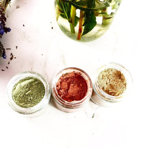 Face Mask Trio ● Rose Clay ● Sea Mud ● Turmeric - Mandala Sol