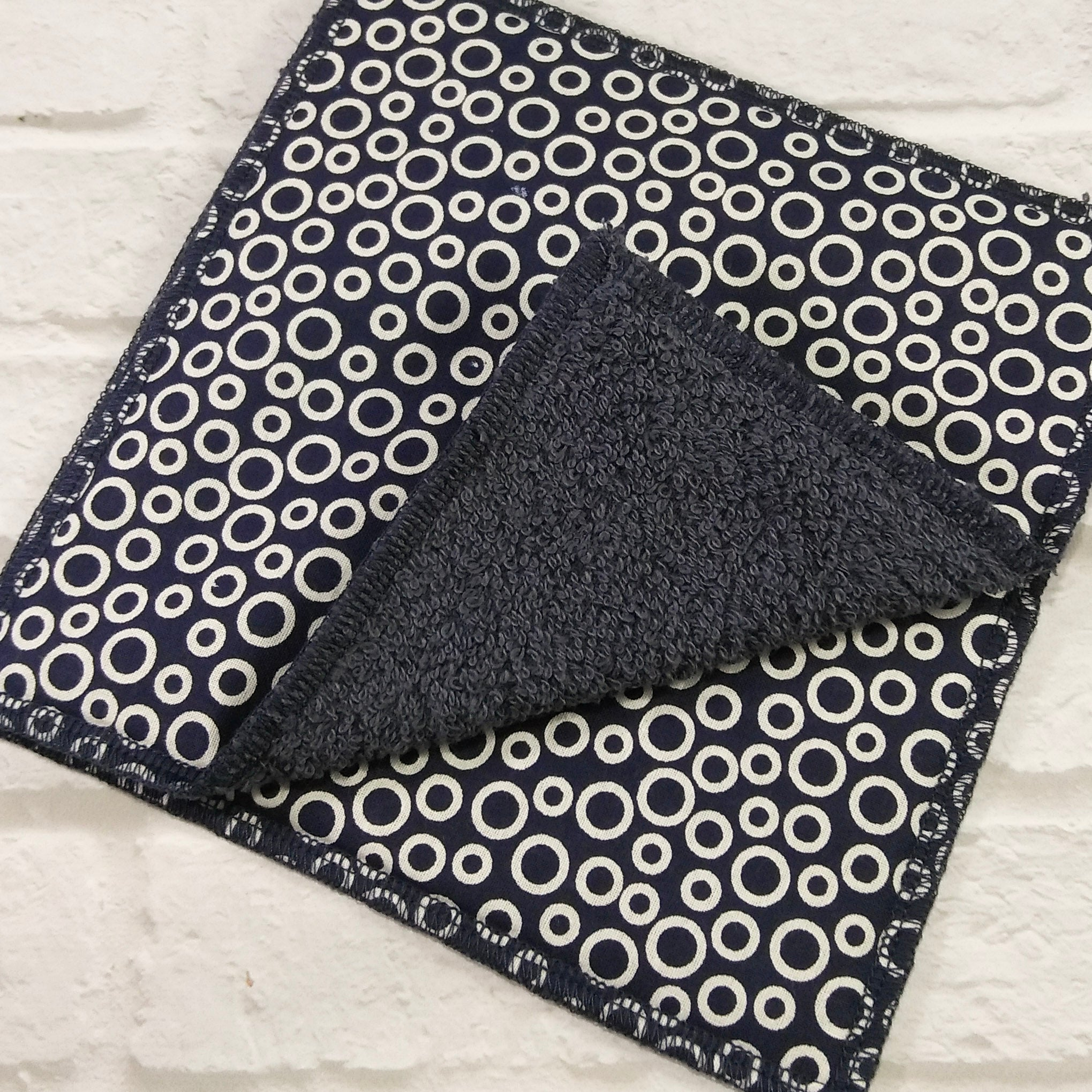 Dishcloths by Nature's Reusables ● Navy Circle Cleaning and Laundry Nature's Reusables - Mandala Sol