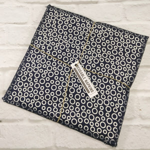 Reusable Napkins by Nature's Reusables ● Navy Circle Cleaning and Laundry Nature's Reusables - Mandala Sol