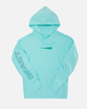 'Beast Bolt' Embroidered Pull Over Hoodie - Mint
