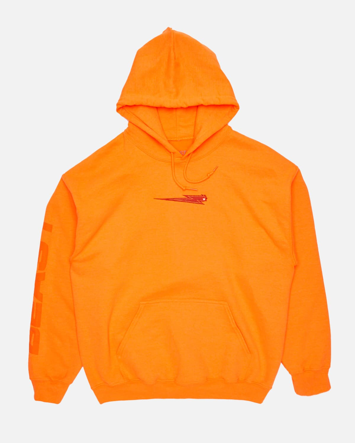 'Beast Bolt' Embroidered Pull Over Hoodie - Orange