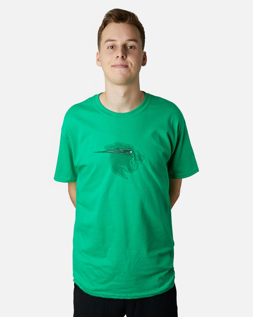 'Beast Head' Embroidery Tee - Green