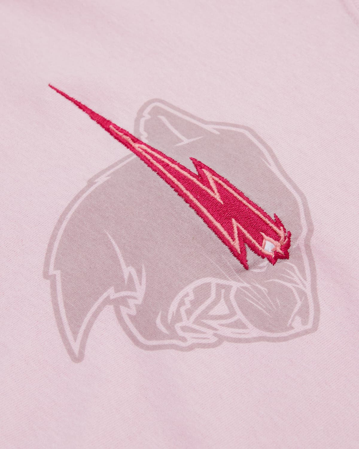 'Beast Head' Embroidery Tee - Light Pink