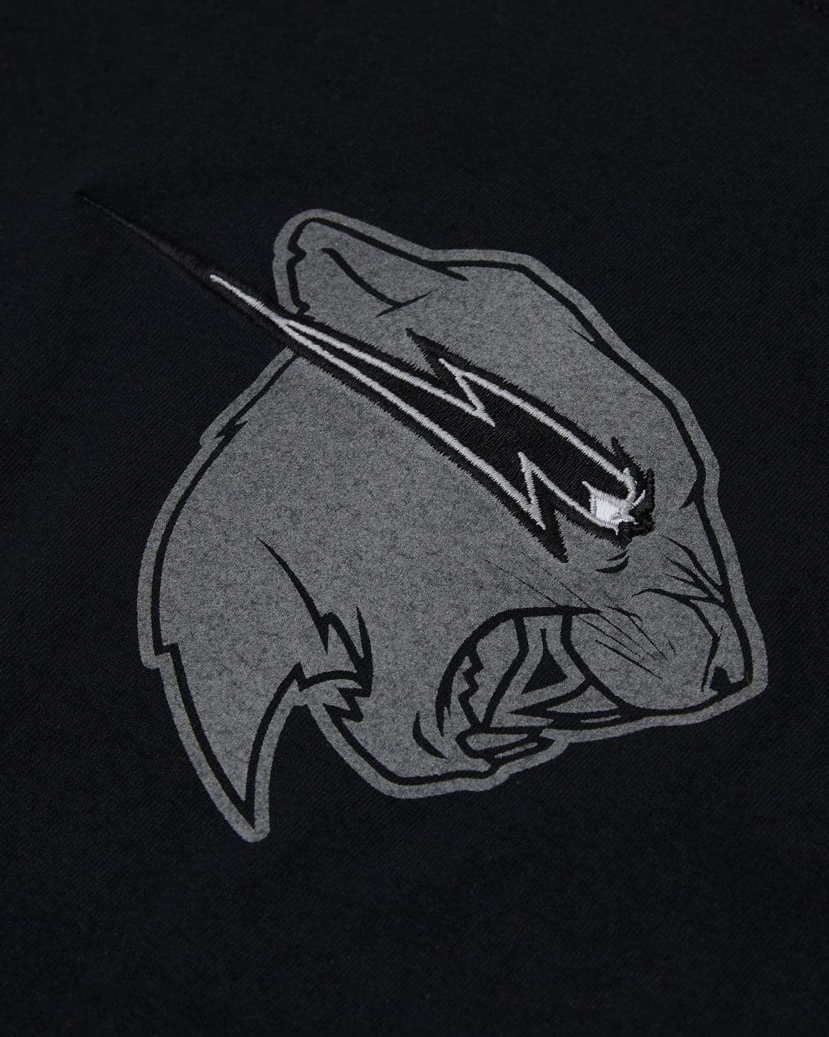 'Beast Head' Reflective Embroidery Tee - Black