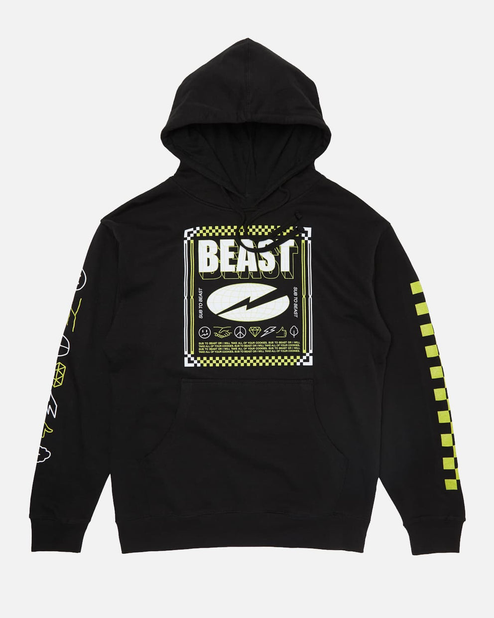 'Checkered Beast' Pullover Hoodie