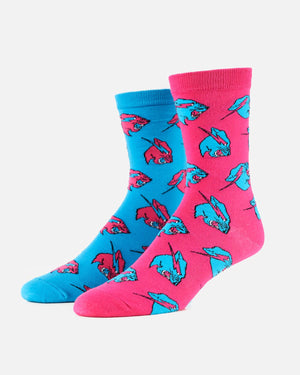 All Over Beast Head Socks