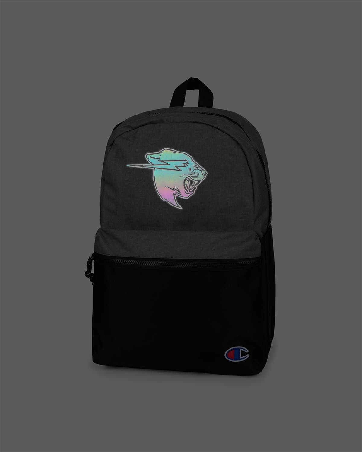 Beast Spectrum Reflective Logo Champion Backpack - Heather Grey/Black