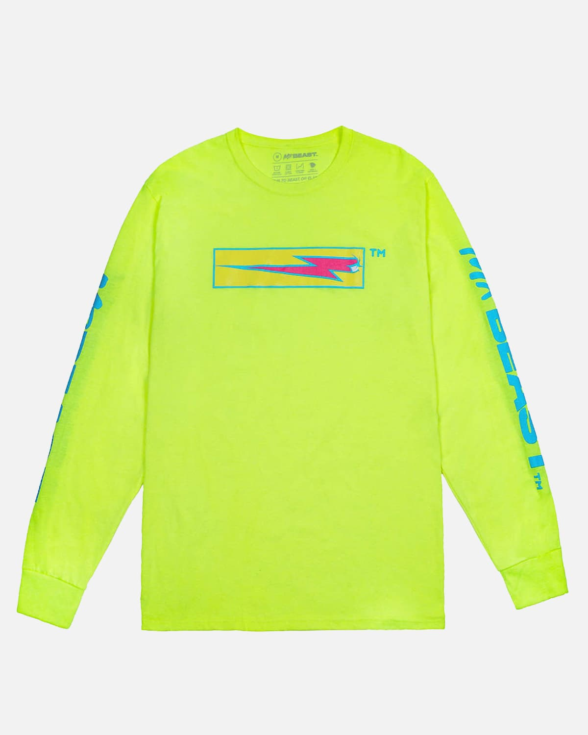 MrBeast 'Bolt Box' Long Sleeve - Volt