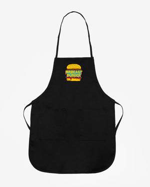 MrBeast Burger Logo Long Apron - Black
