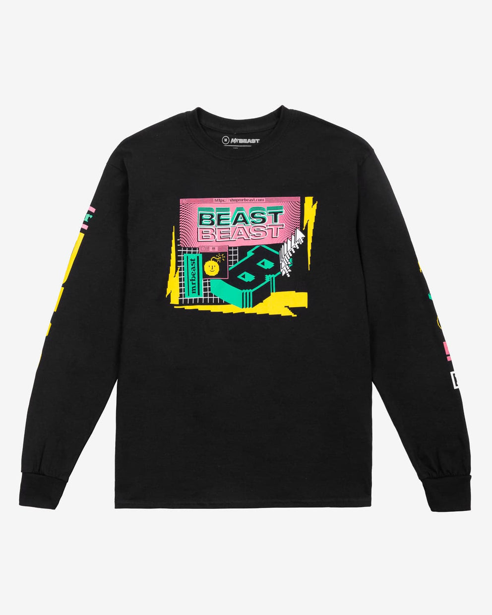 Beast 'Escapism' Long Sleeve Tee - Black