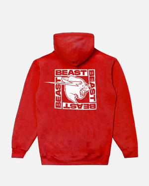 Beast Inverted Box Logo Hoodie - Red