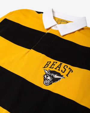 MrBeast Striped Long Sleeve Rugby Shirt