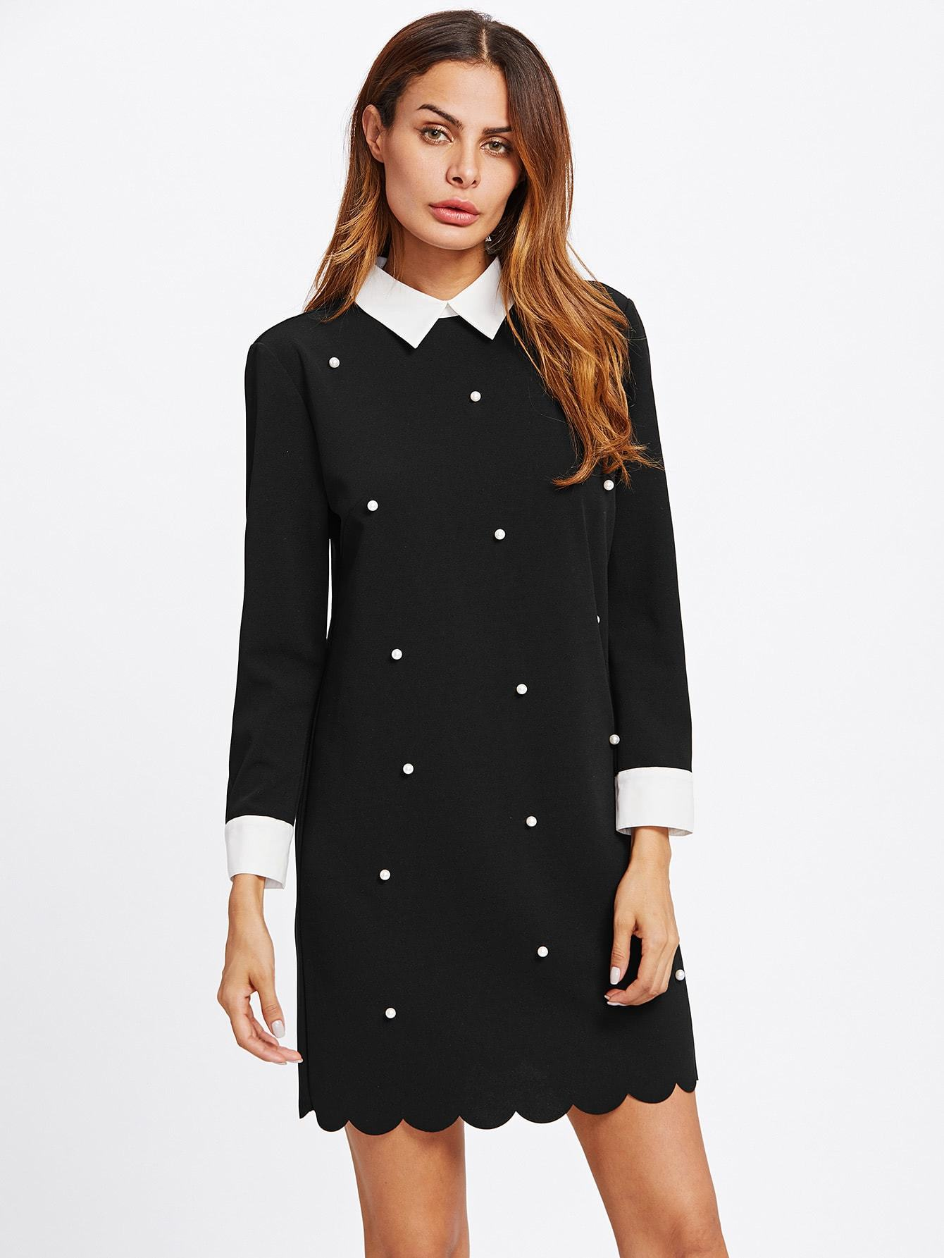 Pearl Scalloped Dress - LoveSylvester