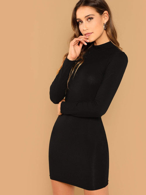 Solid Bodycon Dress - LoveSylvester