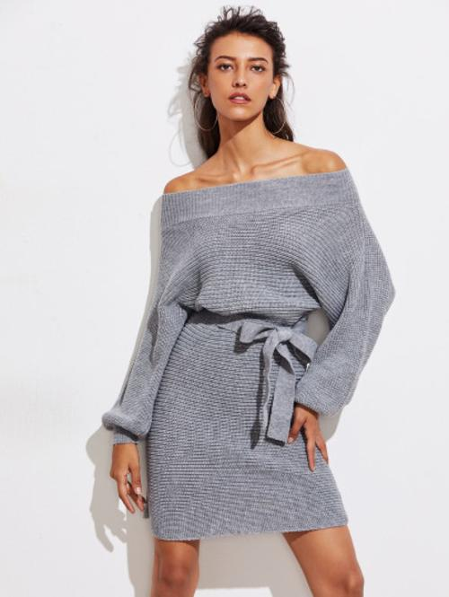 Batwing Sweater Dress - LoveSylvester