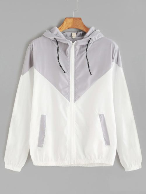 Drawstring Hooded Jacket - LoveSylvester