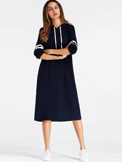 Varsity Striped Hoodie Dress - LoveSylvester