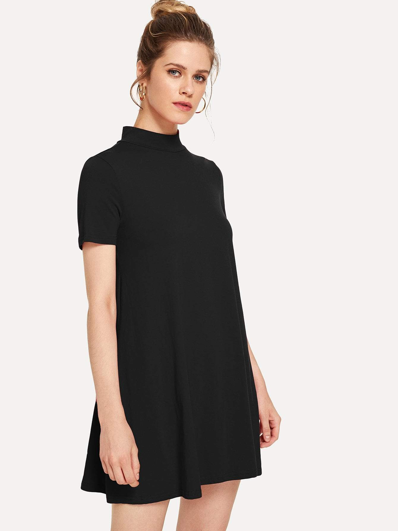 Solid Swing Jersey Dress - LoveSylvester
