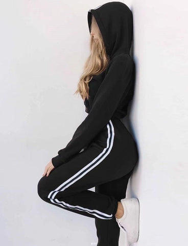 Striped Sports Tracksuit