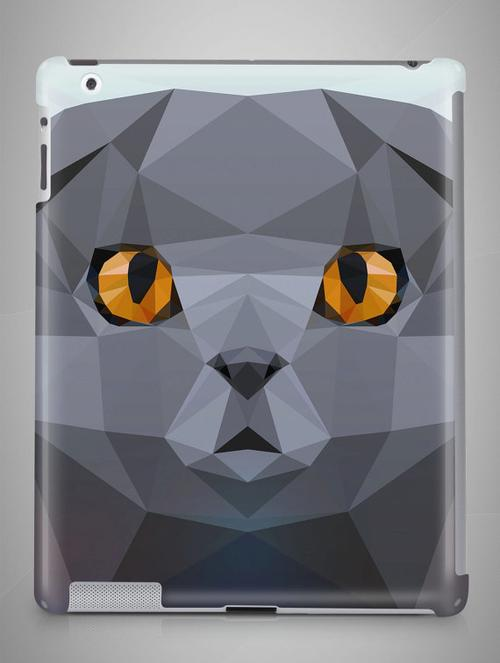 Grey Cat iPad Case - LoveSylvester