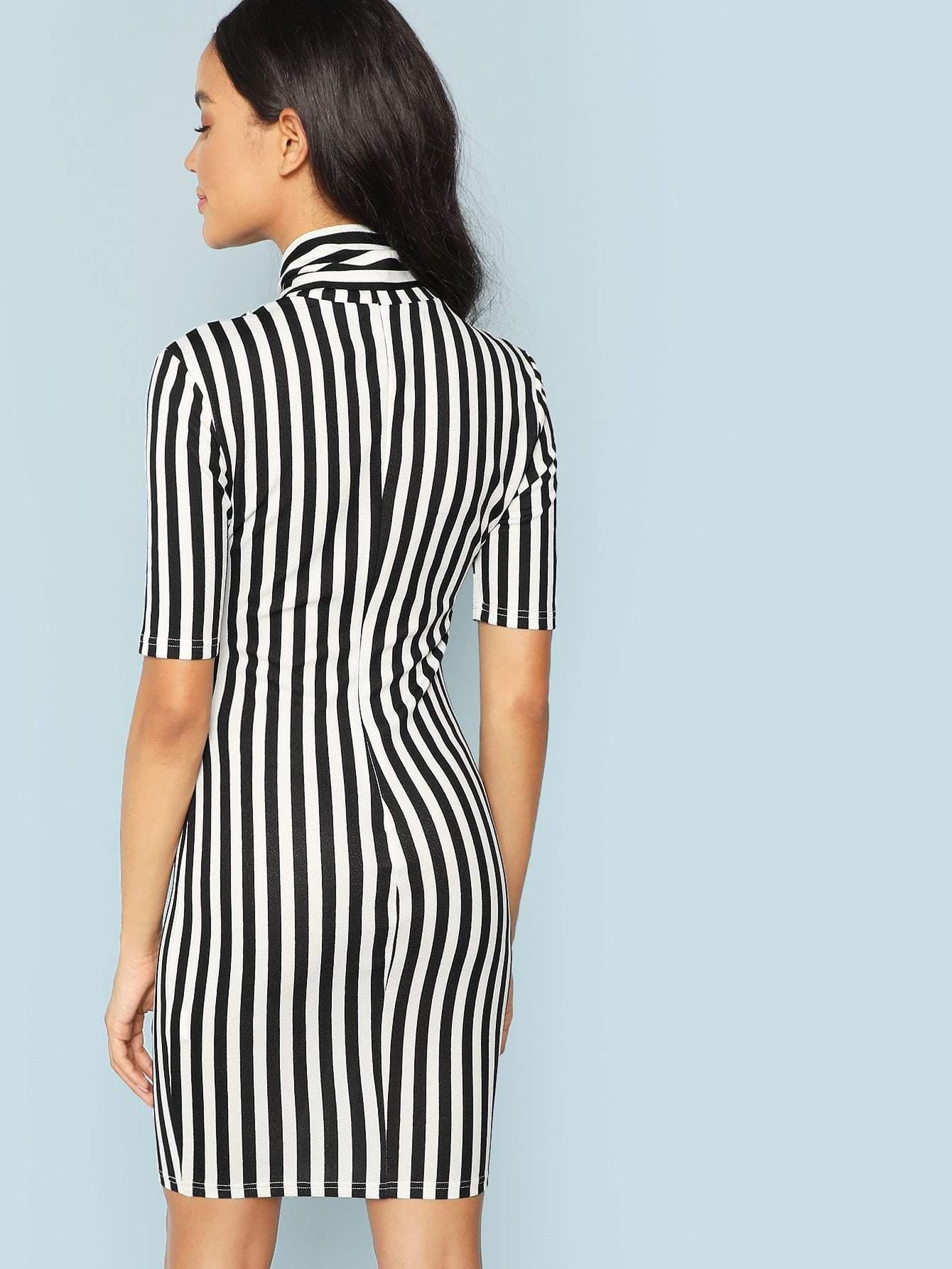 Striped Pencil Dress - LoveSylvester