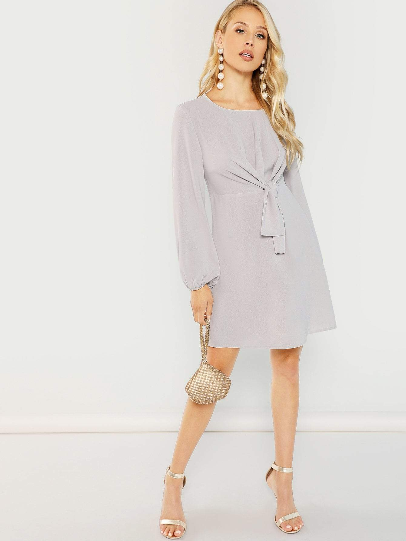 Bishop Sleeve Knot Dress - LoveSylvester