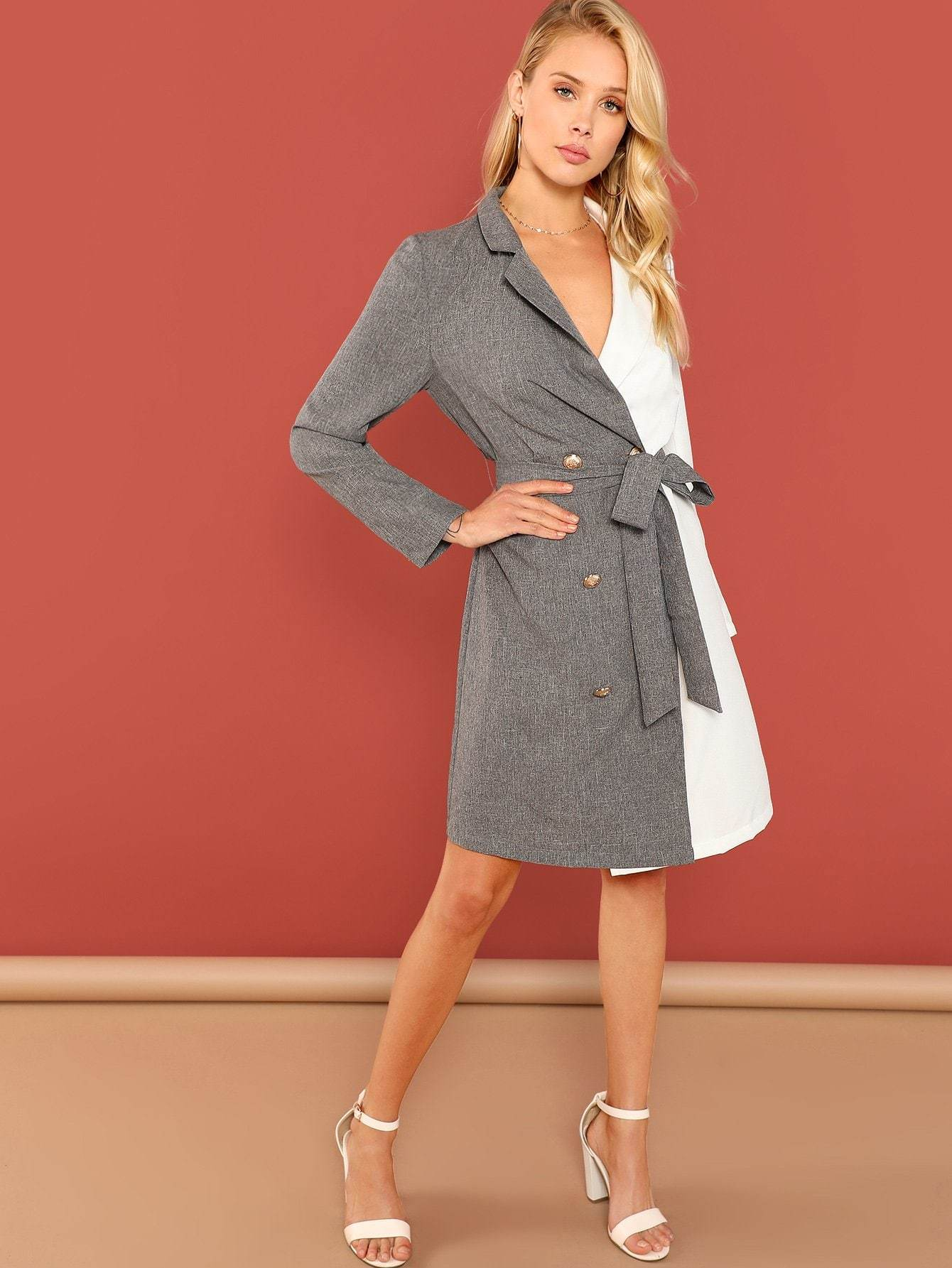Surplice Wrap Knot Dress - LoveSylvester