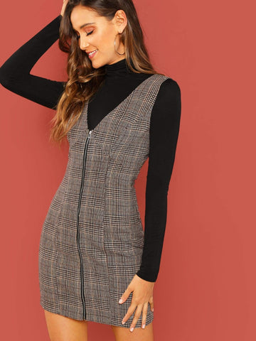 Waist Tied Corduroy Dress
