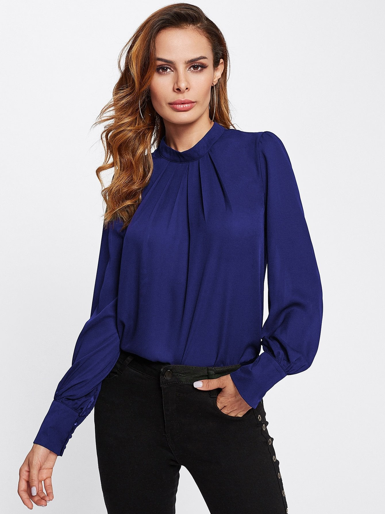 Puff Sleeve Chiffon Blouse - LoveSylvester