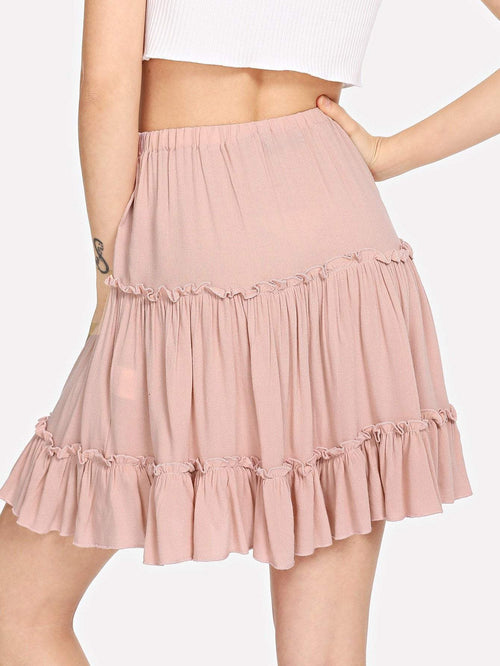 Pink Ruffle Skirt - LoveSylvester