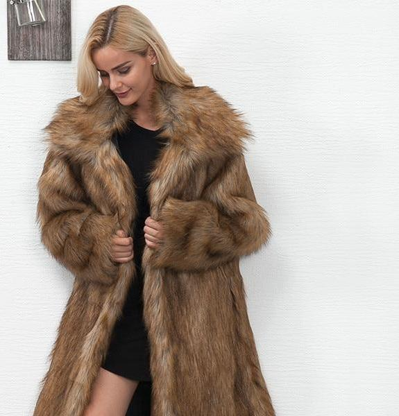 Coat - Long Faux Fur Coat