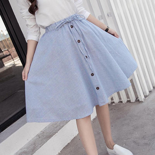 Skirt - Skater Button Down Jean Skirt