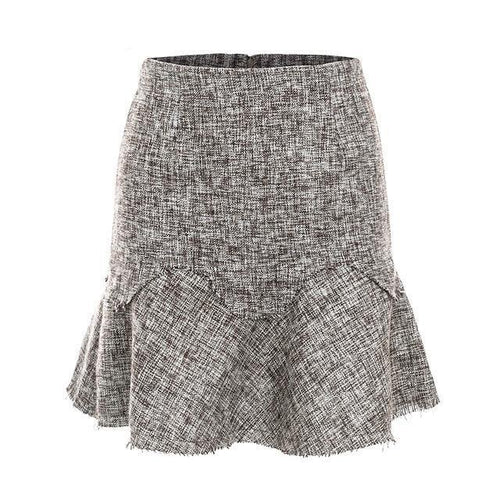 High Waisted Tweed Skirt - LoveSylvester
