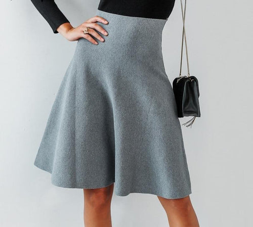 A-line Knit Skirt - LoveSylvester